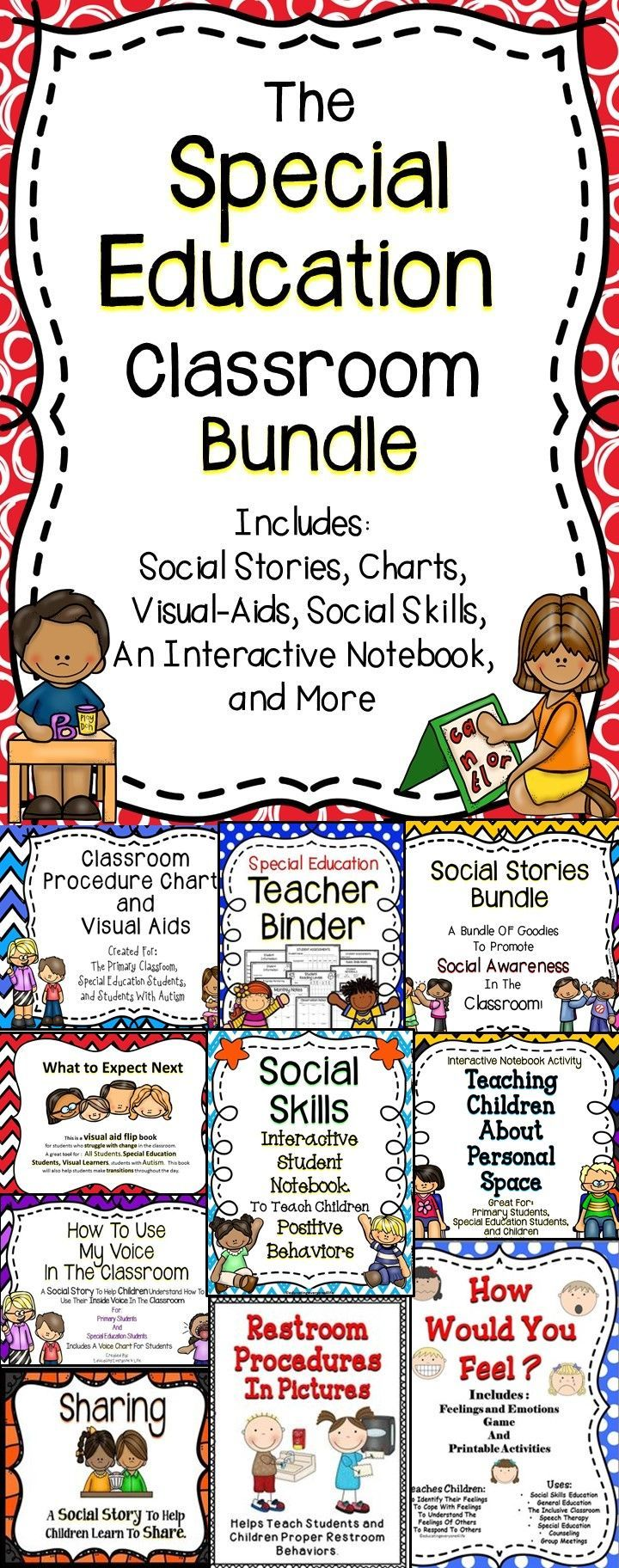 Special Education Bundle - A huge collections of activities and teacher tools for the classroom.