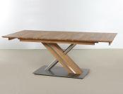 AKON Massivholz Esstisch in 3 Holzvarianten buche  feste Platte | bootsförmig | Säule A | 160x90 cm | Buche lackiert