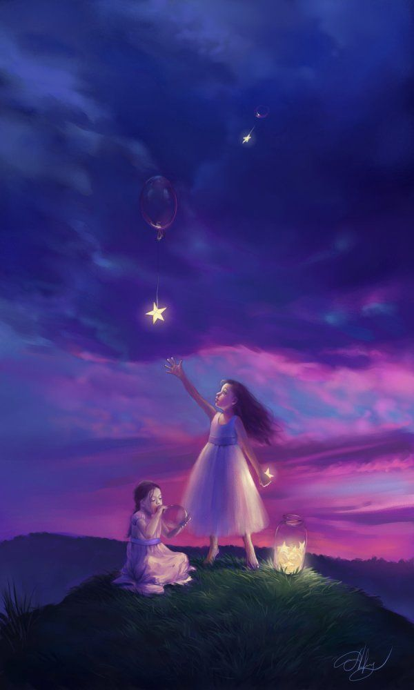 Beautiful colors of the sky #girls #stars by Laura Diehl