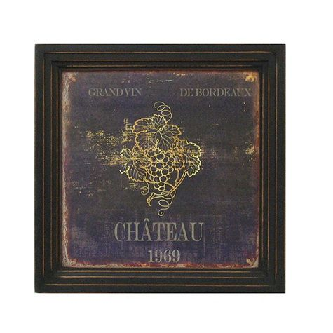 Vintage Wine Label Print