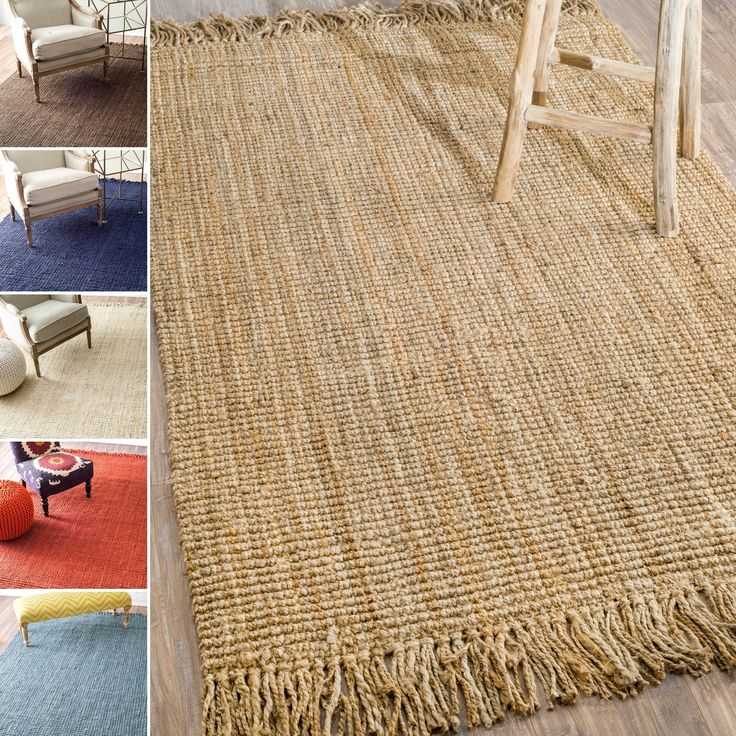 Add charm to any room with this stylish natural jute rug. This area rug was handcrafted by artisan rug makers with sustainably harvested jute, a fast-growing natural fiber. These durable fibers are perfect for high traffic areas in the home.