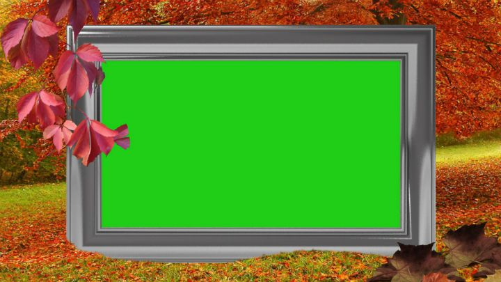 Autumn Frame Green Screen Tutorial | silviubacky