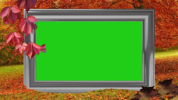 Autumn Frame Green Screen Tutorial   silviubacky