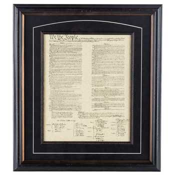 United States Constitution Framed Wall Decor In 2019
