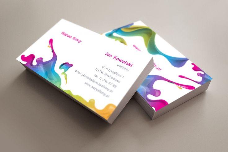 szablon wizytówki Moc koloru http://www.voogo.pl/moc-koloru