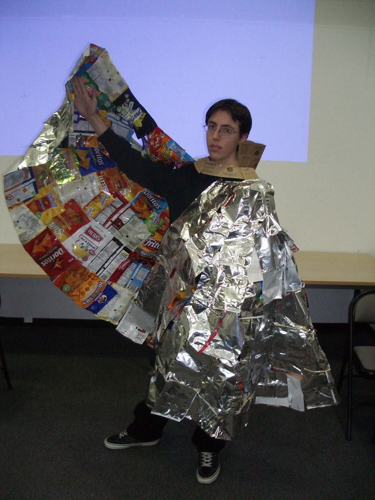 When you want a silver cape you are willing to do ALMOST anything to make  one. One can\u0027t help but wonder if using Reynolds Wrap would have been more