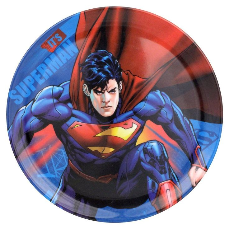 Warner Bros. Superman Character Plates Multicolor Set Of 4 Dc Comics Heroe Movie