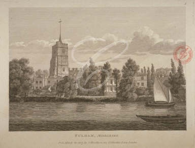All Saints Church Fulham in 1807 from the London Metropolitan Archives