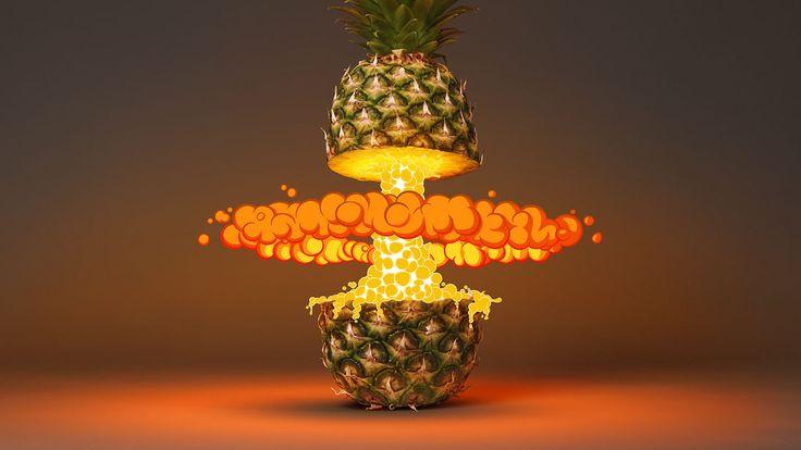 Big Tropical Pineapple Blast by Design Studio Foreal / Benjamin Simon and Dirk Schuster