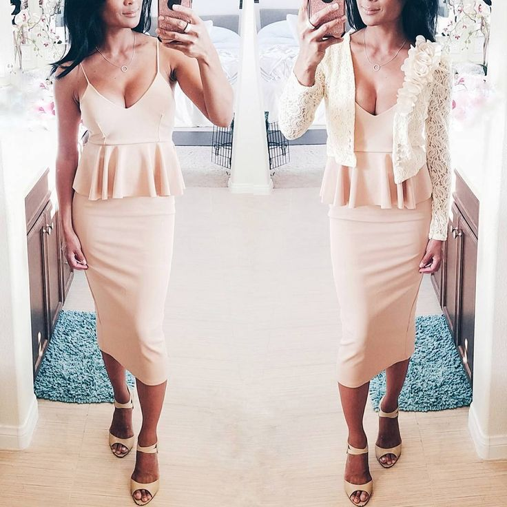 "(@prettycasualcoco) on Instagram: ""After Pony Party Look 🐎  #ootd #lotd #wiw #wiwt #ootn #lotn #mommyglam #fitmom #mombod #whatiwore #MissGuided #babesofmissguided #peplumdress #nudepink #beach #nude #weddingguestdress #whattowear #outfitideas #outfitinspo #outfitinspiration"