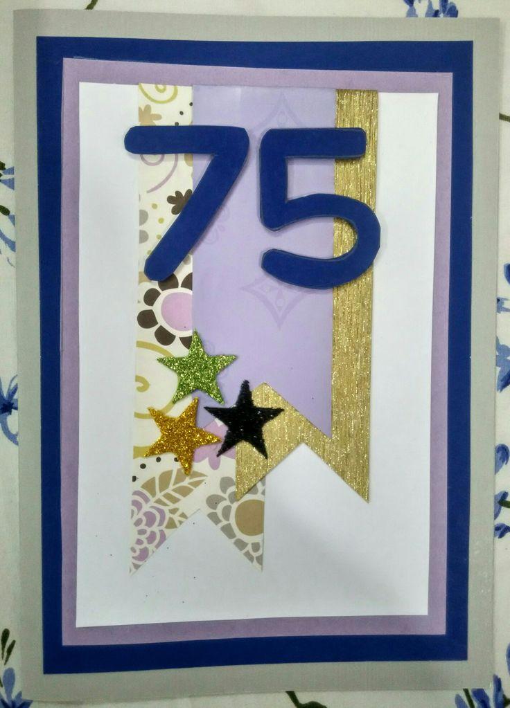 75th birthday card