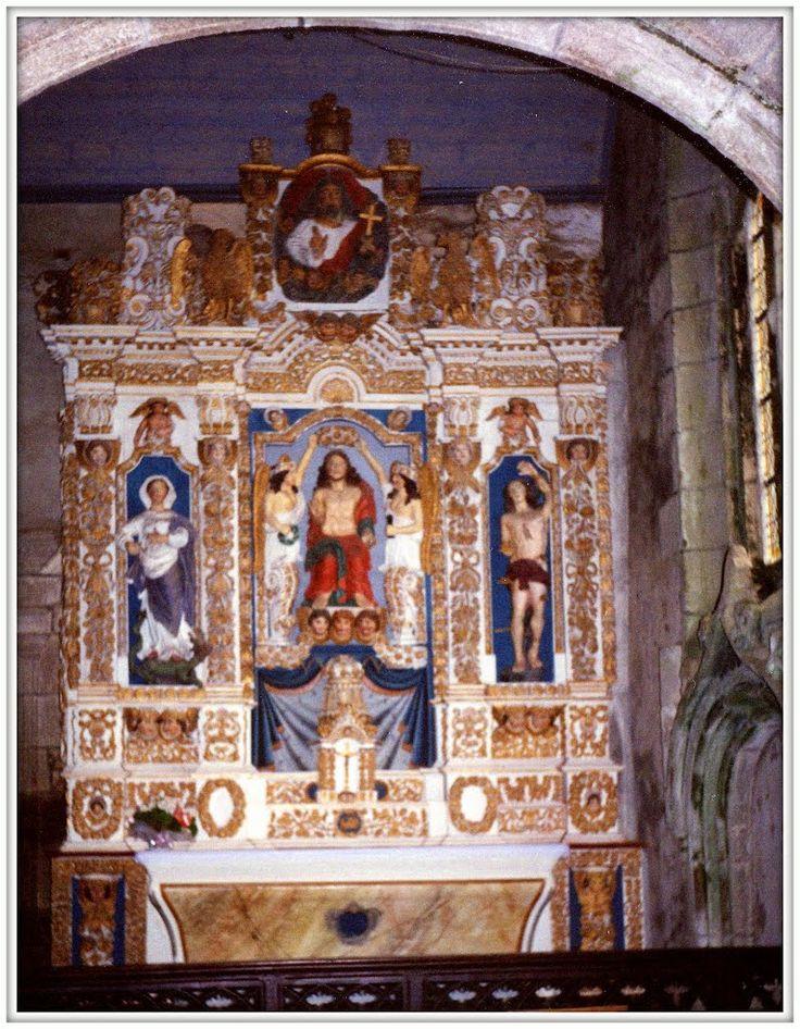 Commana, (Enclos paroissial de Commana) chiesa di san Derrien, Cristo Re, Bretagna, 1992
