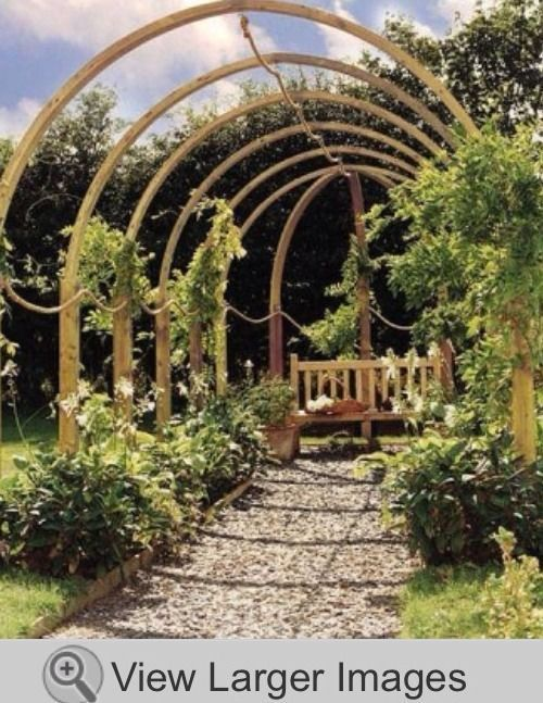 Rope Walk Pergola, Garden Walkway, Design Landscape Flower Arch Timber RRP  £ 795 | Natural Scenry | Pinterest | Garden, Garden structures and Pergola - Rope Walk Pergola, Garden Walkway, Design Landscape Flower Arch
