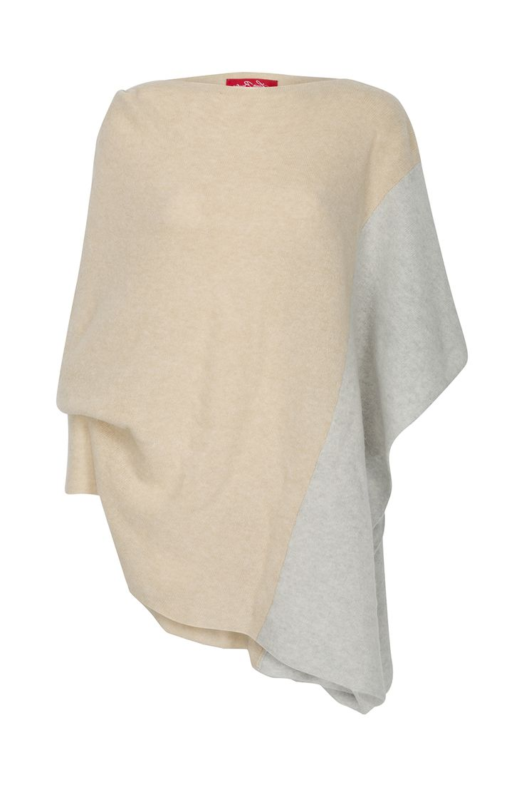 Spring Knitwear Collection from Louise rawlins. This is the yummy Cream & Pale Grey Diamond Shawl €225 on www.louiserawlins.ie