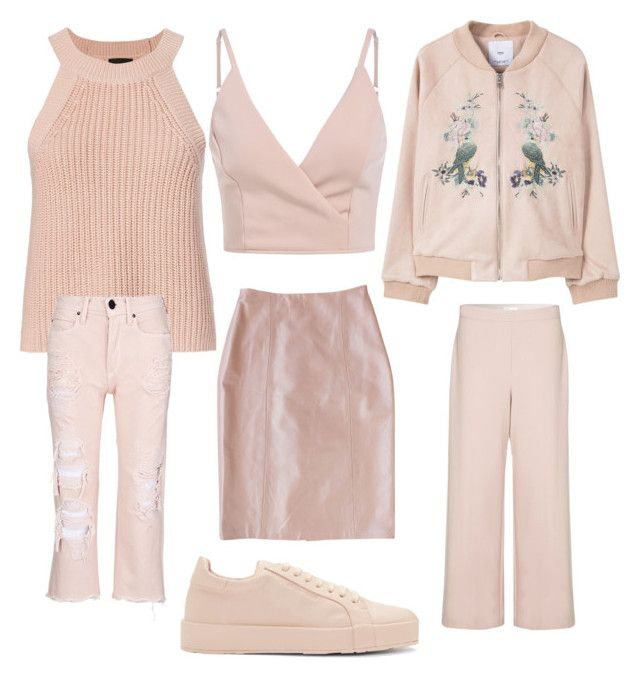 """Soft pink"" by stefania-fornoni ❤ liked on Polyvore featuring Exclusive for Intermix, MANGO, Plakinger, Rebecca Taylor, Alexander Wang and Jil Sander"