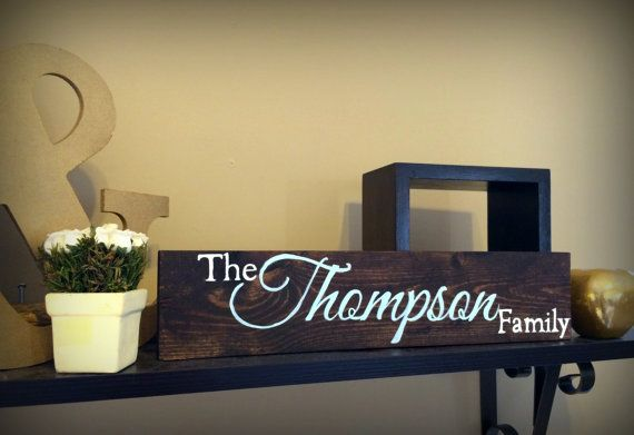 Personalized Family Name Sign Plaque Custom Made Just for you. 10x36 ...
