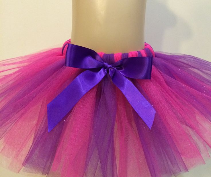 Handmade pink & purple glittered tutu baby/toddler birthday,party Custom orders available