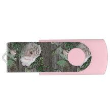 Swivel USB 2.0 Flash Drive (roses)