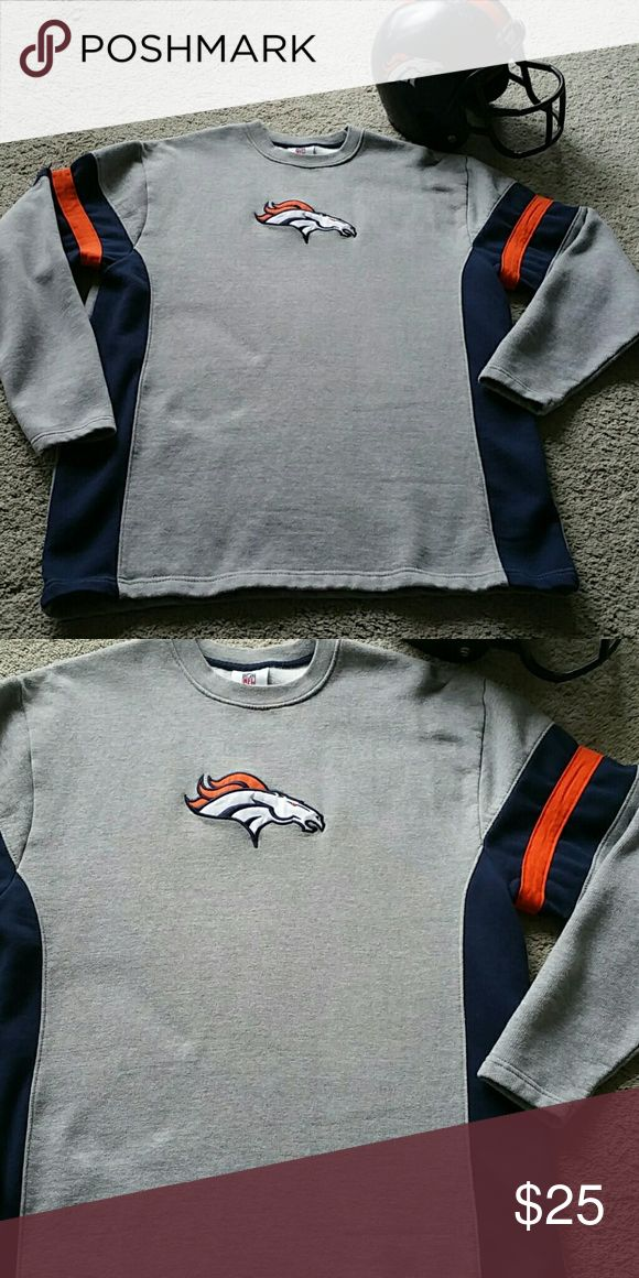 Like New!   Men's Broncos Sweatshirt Get Ready for Game day!  Bundle for more Discounted prices and to $ave on shipping! NFL Shirts Sweatshirts & Hoodies