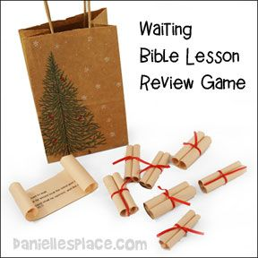 Bible Lesson Review Game - Children read the scrolls to find out what the prophets said about Jesus