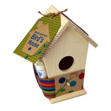 Seedling - Design your own Bird House #entropywishlist # pintowin  Great gift connecting kids to the environment letting them see the wildlife in the backyard up close
