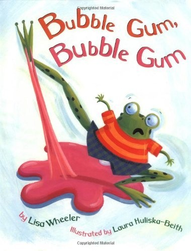 Bubble Gum, Bubble Gum by Lisa Wheeler--perfect story for predicting--then have students chew gum balls and describe before and after to bring in a science concept
