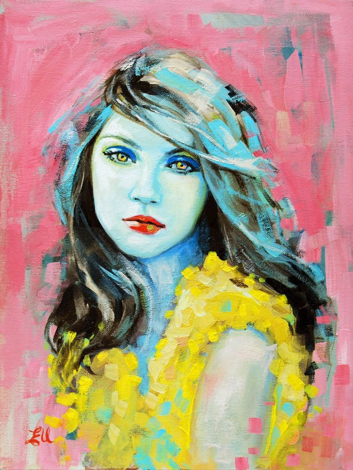 painter Emma Uber - amazing portraits!........................ART TEACHERS - this artist is great for lessons about: identity, portraits, color theory, expression, self reflection