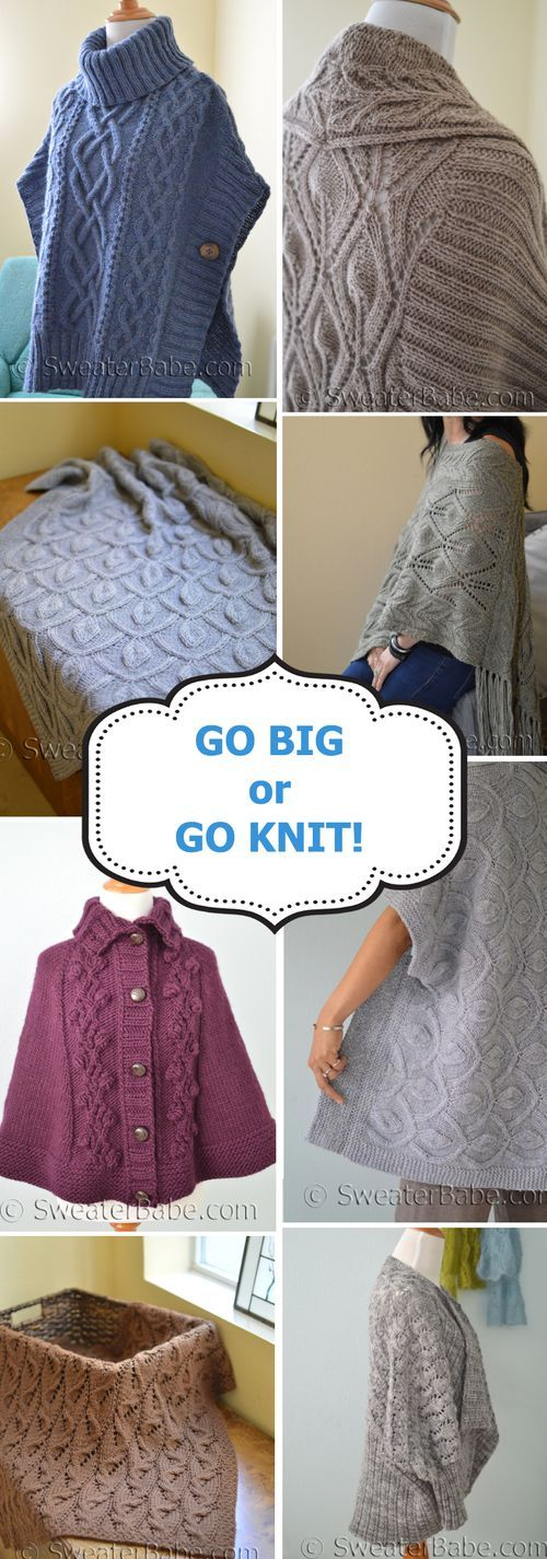 Go BIG with gorgeously textured knitting patterns for Blankets, Cardigans, and More!