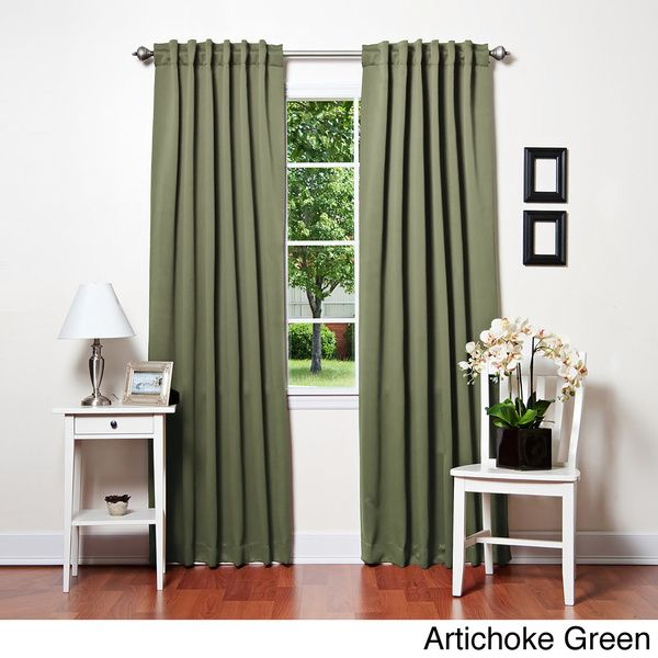 aurora home insulated thermal blackout 84inch curtain panel pair