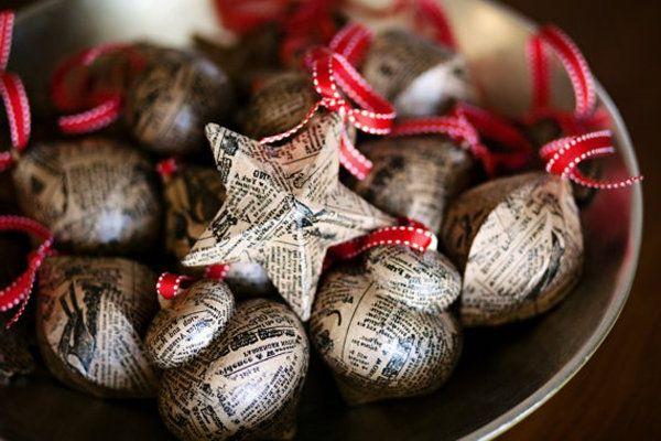 bastelideen zu weihnachten weihnachtsbaumschmuck