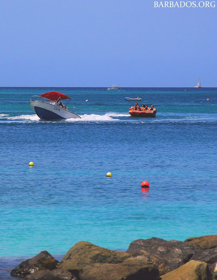 Enjoying watersports off the west coast boardwalk in #Barbados!
