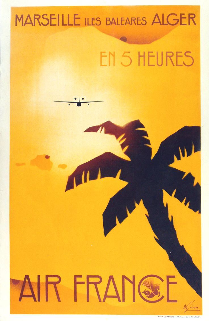 old travel posters | Travel Posters and the Evolution of Flight | Vintage European Posters