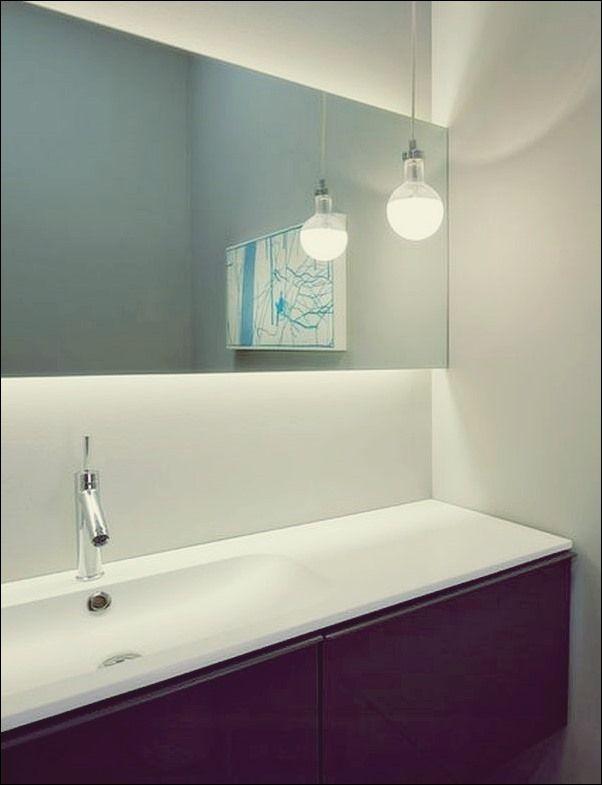 Steige Auf Und Scheine Badezimmer Eitelkeits Licht Spitzen