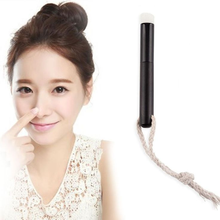 Fashion Oblique Head Nose Blackhead Remover Brush Professional Wooden Cosmetic Facial Dirt Cleaning Washing Brush Black