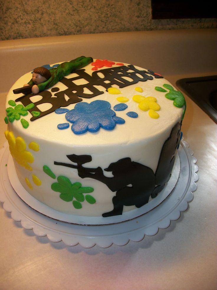 Paint ball cake (um..my brother)
