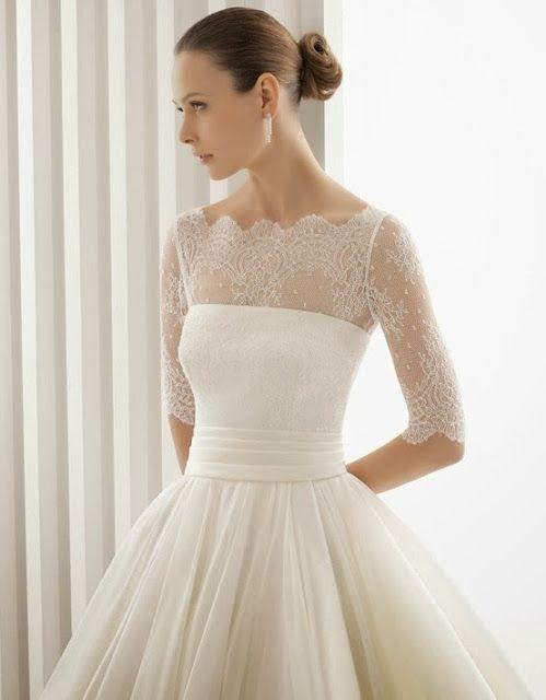 Vintage lace wedding dress #lacedress #weddingdresses