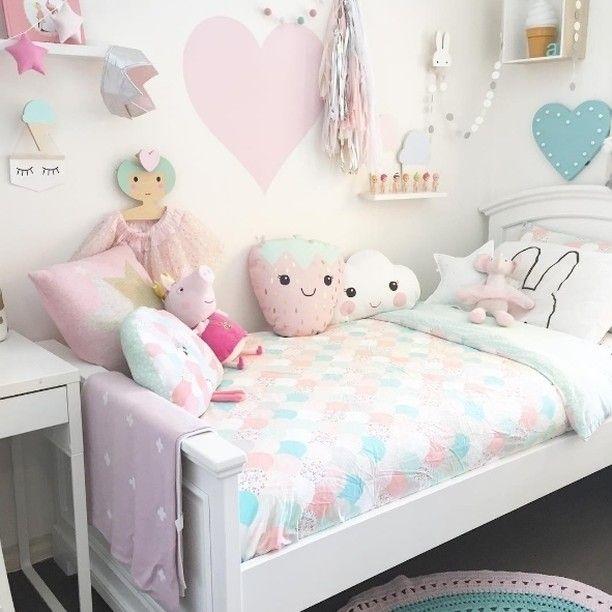 Habitación de niña dulce y original en tonos pastel - Minimoi (@mandymk79)
