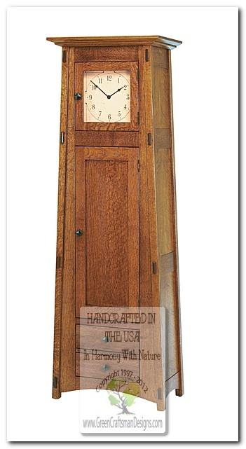 Roycroft Revival Mission Grandfather Clock