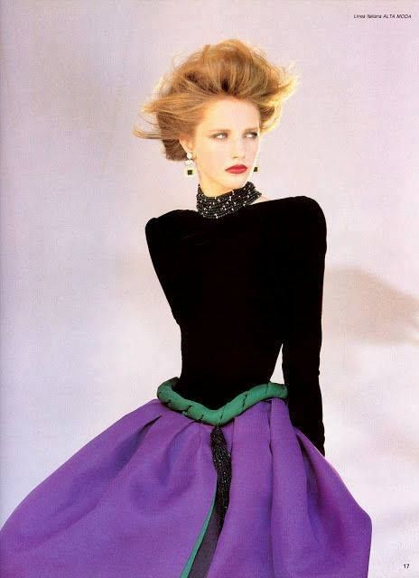 Valentino, 1983 #vintagefashion  #valentino  ##eighties