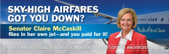 After MO Senate Debate Claire McCaskill Says She Sold Her Plane (Video)