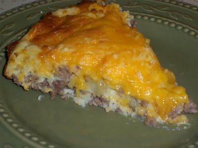 Bisquick Impossible Cheeseburger Pie. Made this for dinner tonight, and it was great :)