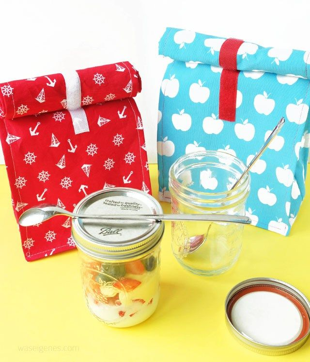 DIY Lunchbags nähen | Frühstückstasche selber nähen | waseigenes.com
