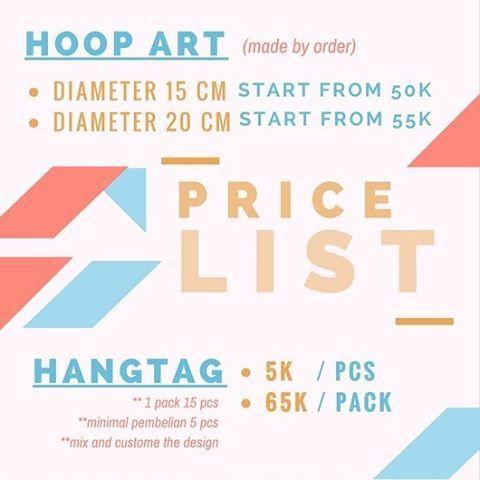 hoop art price list,  contact us! IG(peekaboo.craft) // line peekaboo.craft