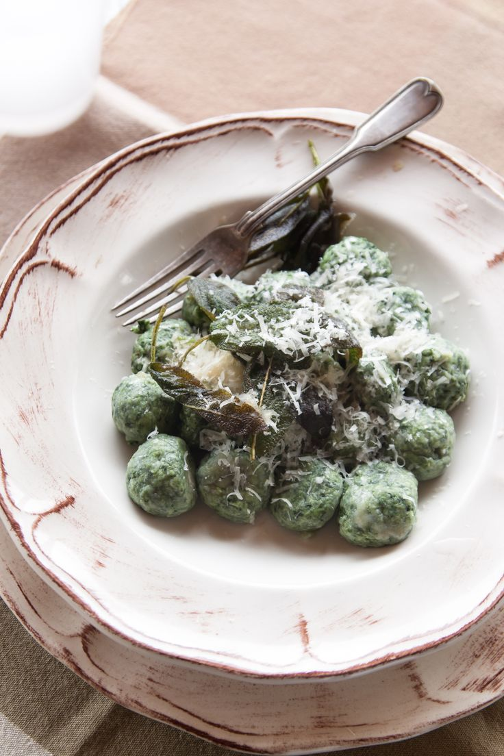 One recipe, two names: malfatti (badly made) in Siena, gnudi (naked) in Florence. The result is still guaranteed. YUM.