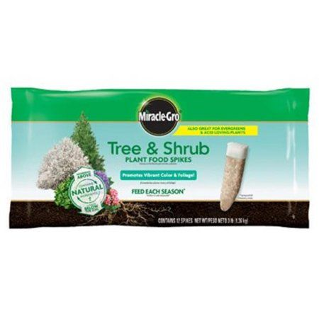 Scotts Miracle Gro 187331 Tree & Shrub Fertilizer Spikes - Pack of 12, Multicolor