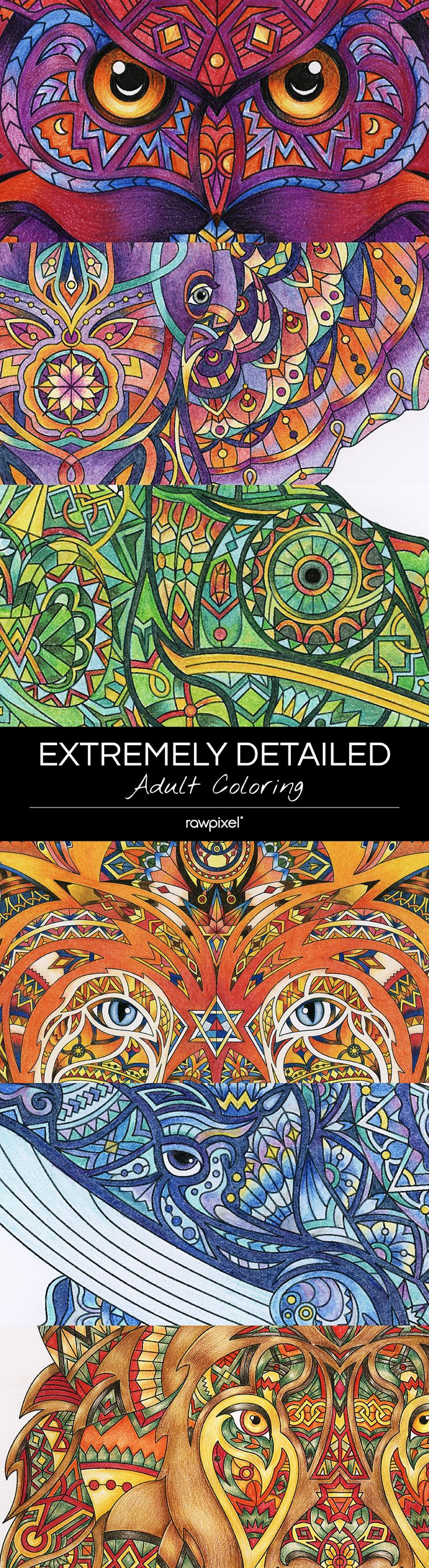 Free Download | The hardest & most detailed adult coloring pages in the world by rawpixel.com Try it and let us know what yours look like! #adultcoloring #coloringpages #adultcoloringbook