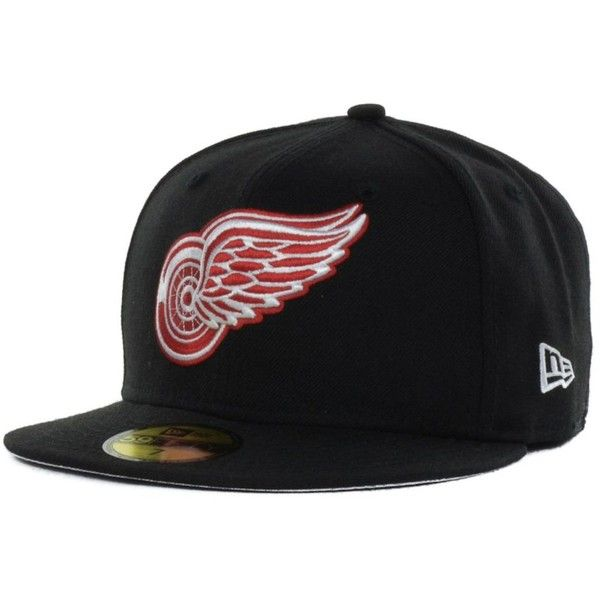 c37a59e505b New Era Detroit Red Wings Basic 59FIFTY Cap ( 35) ❤ liked on Polyvore  featuring