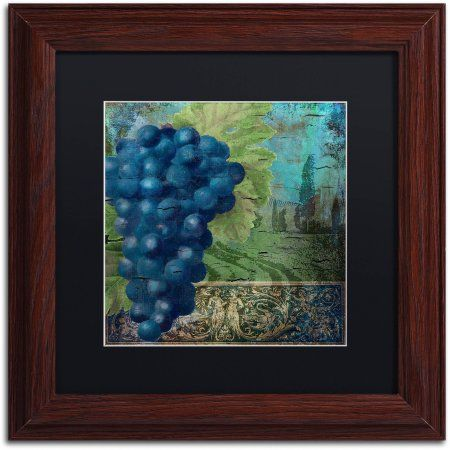 Trademark Fine Art Vino Blu Two Canvas Art by Color Bakery Black Matte, Wood Frame, Assorted