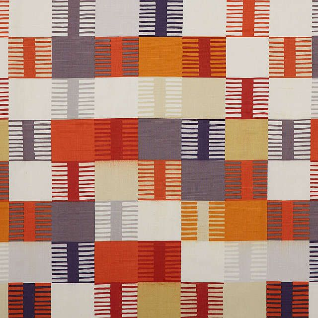 BuyScion Navajo Lined Eyelet Curtains, Orange W167 x Drop 137cm Online at johnlewis.com