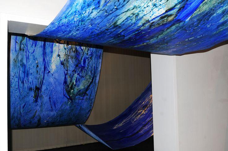 "Urszula Wilk_installation_Sonata for Blue and 4 rooms"""